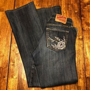 Nice! Lucky Brand Embroidered Jeans sz 0/25 Reg